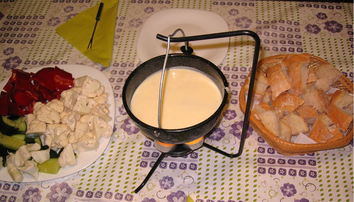 fondue in vas